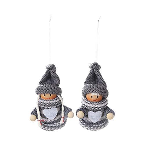 TAOtTAO Noël Créatif Arbre De Noël Décoration Pendentif Poupée Marionnette Cloche Pendentif Suspendu 2PC (B)