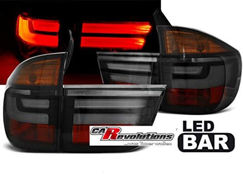 X5 E70 03.07-05.10 LED Rückleuchten in rauchglas smoke LightTube Set