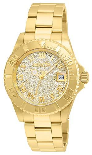 Invicta Women's Angel Swiss-Quartz Watch with Stainless-Steel Strap, Gold, 20 (Model: 22707)