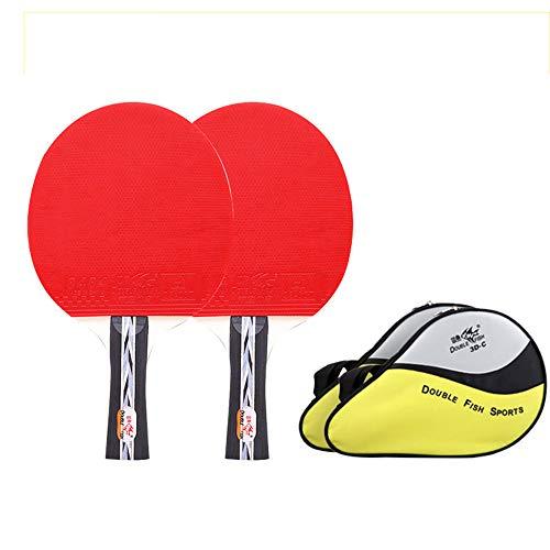 SSHHI Raquetas de Tenis de Mesa, 7 capas de madera, Raquetas de Ping Pong para el hogar, Agarre cómodo, Duradero/Como se muestra/B