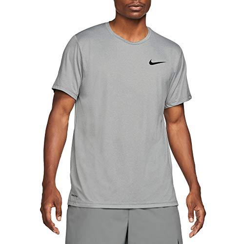 Nike Herren Np Df Hpr Dry T-Shirt, Particle Grey/Grey Fog/Htr/Bla, XL