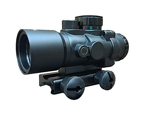 Aimpro Compact Prism Scope 3.5x30 Etched Glass Illuminated Chevron Reticle