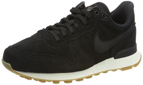 Nike W Internationalist Se, Scarpe da Ginnastica Donna, Nero (Black/Black/Deep Green/Gum Light Brown), 42.5 EU