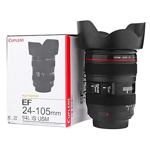 Madprice Tazza Bicchiere Obiettivo Fotocamera CUPLENS EF 24-105mm PORTABISCOTTI Colazione