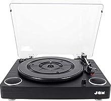 Jam Play Giradischi in vinile, 3 unità , cartuccia in ceramica di alta qualità, altoparlanti stereo integrati, ingresso...
