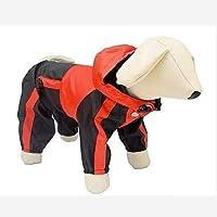 ZHAOCHEN ファッション犬のレインコート小中大犬レインコートペット服ドーベルマンラブラドール防水・ブル・テリアハスキージャケット レインコート (Color : Red, Size : S)