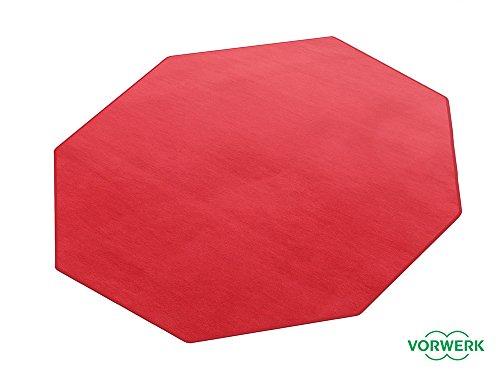HEVO Vorwerk Bijou rubinrot Teppich   Spielteppich Nicht nur für Kinder 200x200 cm Achteck