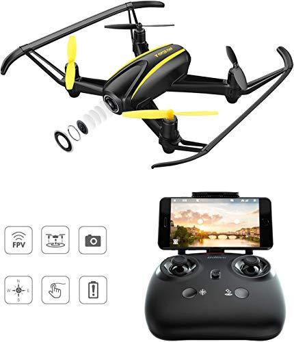 Tomzon Drohne mit HD Kamera, T25 WiFi FPV Navigator RC Quadrocopter mit 120° Weitwinkel 720P Kamera, Höhenlage halten, Headless-Modus, EIN Taste zum Starten und Landen, Not-Aus