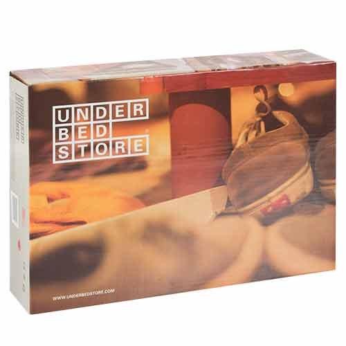 Hasëndad Organizador de Zapatos Under Bed Store, Tejido Plástico, Marrón, 58x68x13 cm