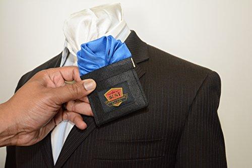 Best Pocket Square Holder, Black, Size One Size