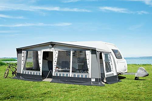 Heinz&Linse Wohnwagen-Vorzelt Florida 240 PVC Reisevorzelt Dauerstandzelt Campingzelt Saisonzelt Campingzelt (11, Umlauf 851-880 cm, 25x1 mm Stahl-Gestänge)