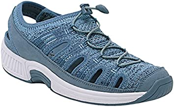 Orthofeet Proven Bunions Plantar Fasciitis Relief. Extended Widths. Orthopedic Diabetic Women's Closed Toe Sandals Laguna