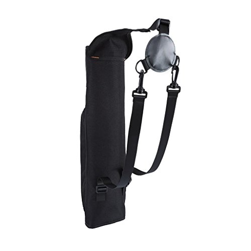 Sharplace Bolsa de Soporte de Carcaj de Flechas de Tiro con con Espalda de Tela Oxford Negra Grande con Accesorios de Bolsillo con Cremallera para Al