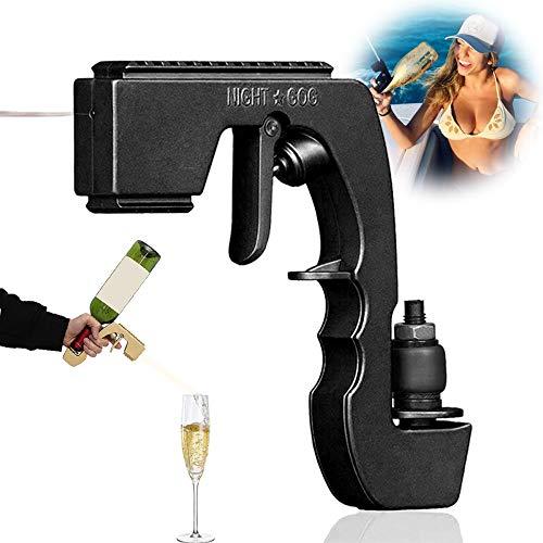 Burbuja Blaster Champagne Gun Sprayer Wine Stopper Burbuja Blaster Champagne Gun Shooter Botella de alcohol Flirt Gun para bodas, fiestas, Oktoberfest Night Club Bar Tool-negro