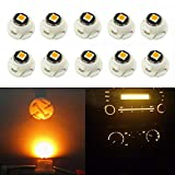 WLJH 10x Yellow T4.7/T5 Neo Wedge 3030 SMD Chip 12mm Base Led Car
