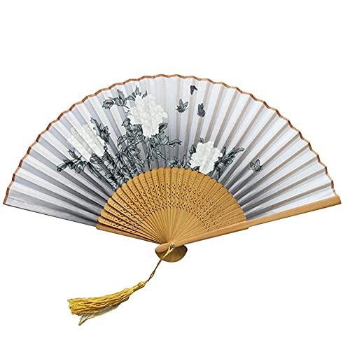 GLXLSBZ Ventiladores Chinos Tradicionales Ventiladores de Mano de bamb Ventiladores de Mano Ventiladores de bamb Ventiladores de Mano de bamb ahuecados para Mujeres (Regalo de cumpleaos Festivo)