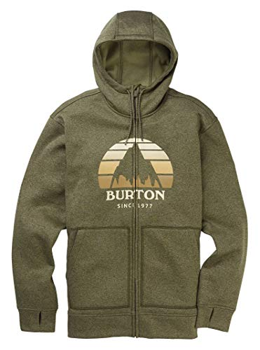 Burton Herren Oak Full-Zip athletisch, Kapuzenpulli, Keef Heather Neu, Small