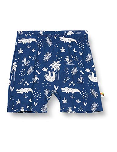 loud + proud Shorts Allover Print Organic Cotton, Bleu (Ultramarin UL), 86/92 Bébé garçon