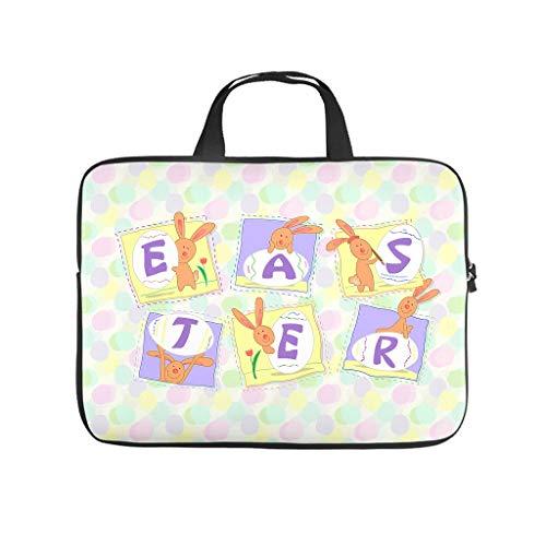 Bolsa para ordenador portátil con diseño de huevos de Pascua felices, resistente al desgaste, para universidad, trabajo o negocios.
