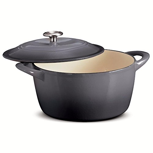 Tramontina 6.5 Qt Enameled Cast Iron Dutch Oven Gray
