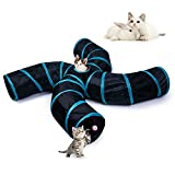 Best Cat Tunnels - EGETOTA Cat Tunnel, 4 Way S Shape Collapsible Review