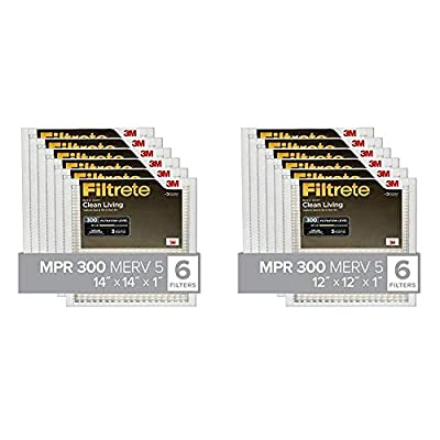 Filtrete AC Furnace Air Filter, MPR 300, Clean Living Basic Dust