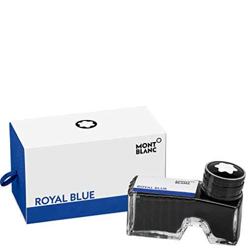 Montblanc - Botella de tinta para pluma (60 ml), color azul