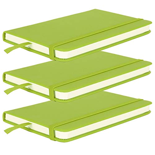 Fdit 3pcs Color Cuero de la PU A6 Cuaderno de Oficina Cuaderno con Correa de cáscara Dura Cuaderno de Negocios Bloc de Notas de Tapa Dura Cuaderno con Correa Diario Papelería Material Escolar(2#)