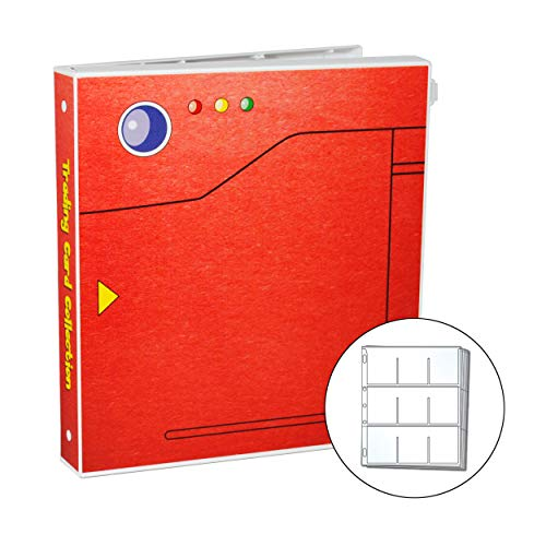 UniKeep Pokedex Style Trading Card Storage Album for The Pokemon Card Game with 25 Premium Platinum Series Trading Card Pages - Holds 450 Cards image