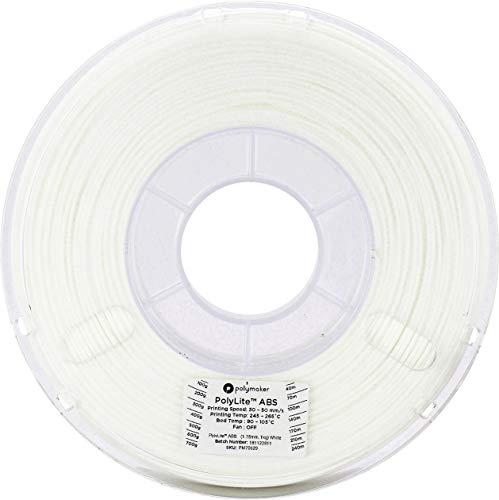 3Dプリンタ―用フィラメント PolyLite ABS 1.75mm径 1kg巻 ホワイト