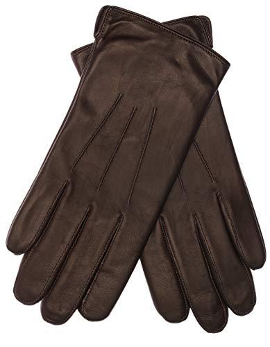 EEM Herren Leder Handschuhe BEN aus Lammnappaleder, klassisch; dk. braun, L