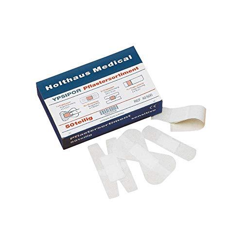 Holthaus Medical YPSIPOR Pflaster-Set Pflasterstrips Wundpflaster Finger Fingerkuppen, sensitive, 50-teilig