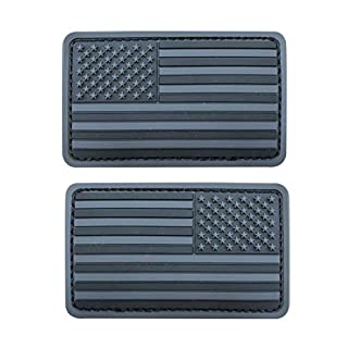 2x3.5 inch 3D PVC Rubber Black Gray US USA American Flag Patch Hook-Fastener Backing (Forward and Reversed) (B07MXV1P5W) | Amazon price tracker / tracking, Amazon price history charts, Amazon price watches, Amazon price drop alerts