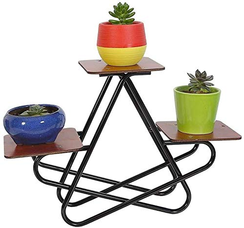 ZhuFengshop - Soporte para flores de escritorio con varias capas para escritorio, de hierro forjado, para flores, para salón, jardín, patios