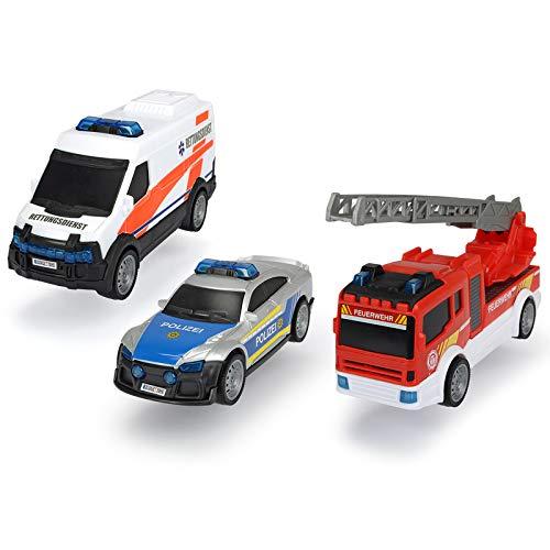 Spielzeug Set 3 Autos Polizei Krankenwagen Feuerwehrwagen Spielzeugautos Kinder Polizeiautos Feuerwehrauto Rettungsdienst Jungen 3 Jahren Eisatzfahrzeuge Kinderspielzeug Kleinkind Spielset Rollenspiel