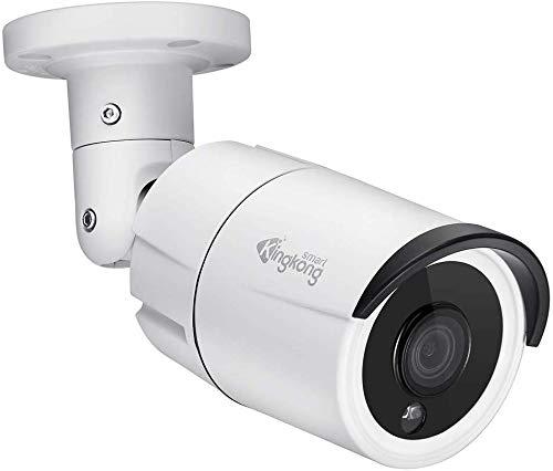 KingkongSmart Cámara IP UltraHD Onvif 4MP PoE con Audio, cámara de Seguridad de Metal para Exteriores, IP67 Resistente a la Intemperie (admite Blur Iris, iSpy, Synology, etc.)