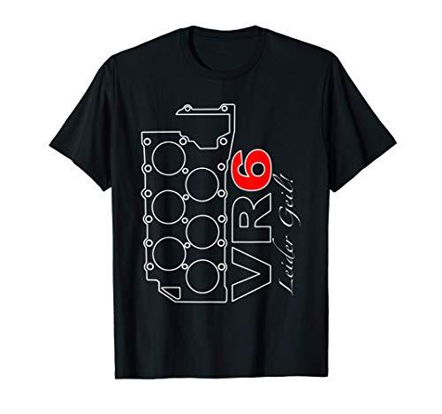 VR6 Motor Dichtung Tuning Auto Golf Turbo Kompressor Blocks T-Shirt