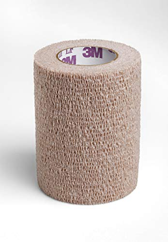 Coban LF Cohesive Bandage 3 Inch X 5 Yard Standard Compression Self-Adherent Closure Tan, 2083 - Sold by: Pack of One