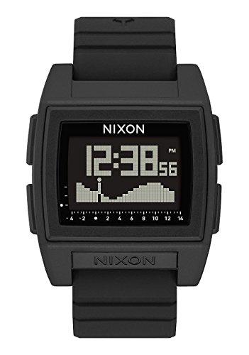 Nixon Herren Digital Smart Watch Armbanduhr mit Silikon Armband A1212-000-00