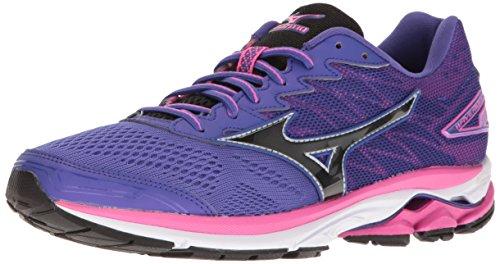 Mizuno Women's Wave Rider 20 Running Shoe, Purple/Black, 7 B...