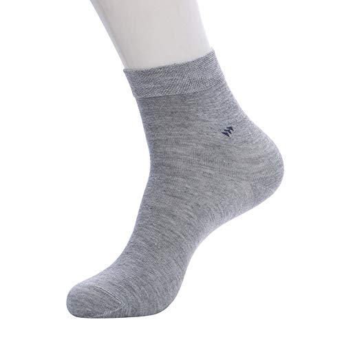 IFOUNDYOU Herren Business Socken Einfarbig Baumwolle Socken Herren Sport Bequeme Socken LäSsig Weiche KnöChel Senior Warme Socken