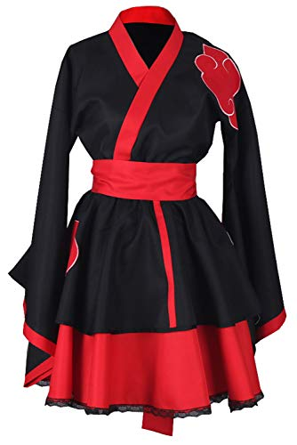 RedJade Naruto Akatsuki Robe Genderbend Traje de Cosplay Disfraz Mujeres L