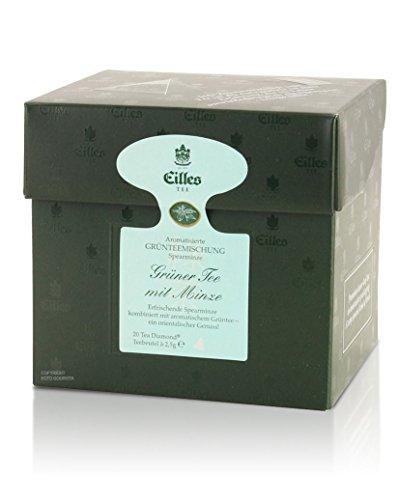 Tea Diamonds Grüner Tee mit Minze 20 Pyramidenbeutel