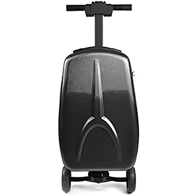 Smart Charging Luggage Free Steering Electric Scooter Trolley Suitcase Travel Cabin Electric Luggage Cart,20 inches