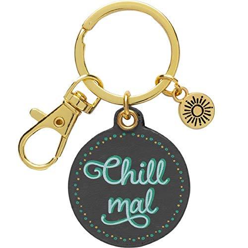 GRUSS & CO 47004 Anti-Stress, Anhänger mit Schlüsselring und Karabiner Schlüsselanhänger, Metall, Mehrfarbig
