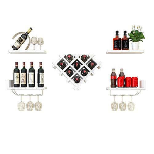 LXJYMX Weinregalständer, Wand-Weinschrank, kreative Weinregal Wohnzimmer Wand hängen Vitrine Weinglas Leiste