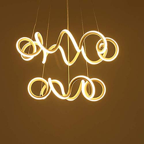 Hai Ying Led-plafondlamp, verstelbaar, modern design met dubbele ophanging, voor kantoor, slaapkamer, woonkamer