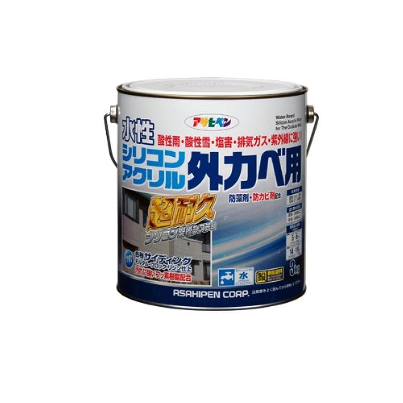 のぞき見明日せせらぎアサヒペン 水性シリコンアクリル外カベ用 アイボリー 3kg