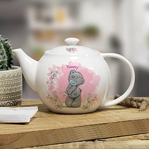 Té de peluche con texto 'Me to You', de cerámica blanca de 710 ml, regalo de nombre personalizado para mamá de niños
