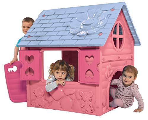 thorberg Spielhaus Kinderspielhaus blau,rosa oder grün (Made in EU) Kinderhaus (Rosa)